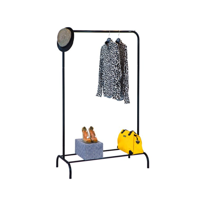 Стойка для одежды Fenster Лофт 1Б Черный 160х100х48,5