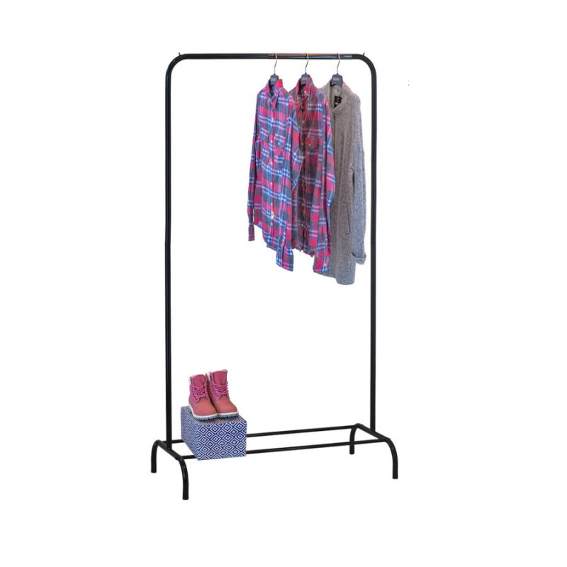 Стойка для одежды Fenster Лофт 1Б Черный 185х100х48,5