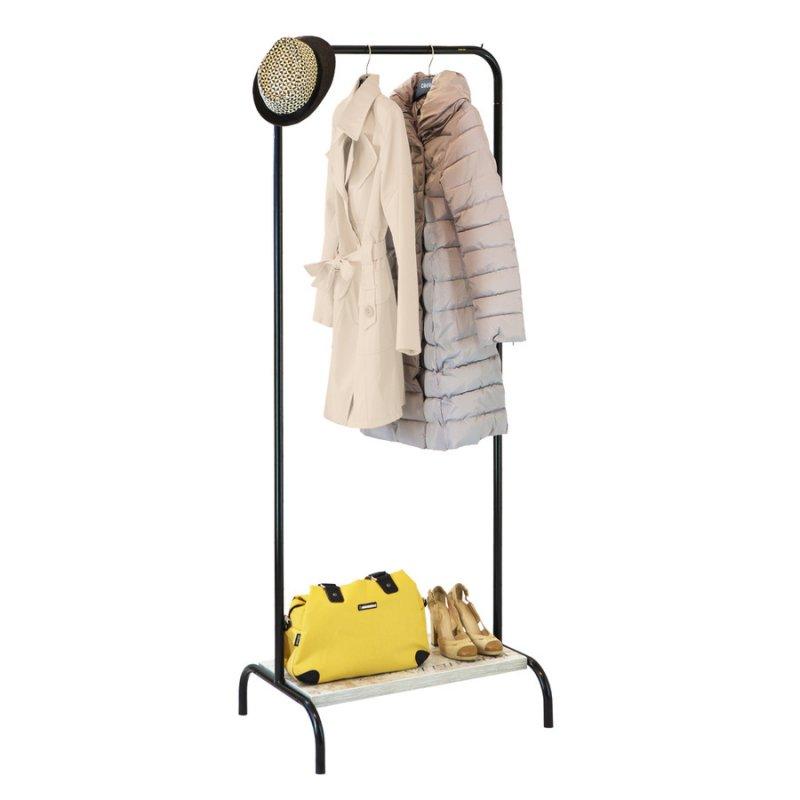 Купить Рейл для одежды Fenster Лофт 2А Черный 210х70х48,5 полка Кантри