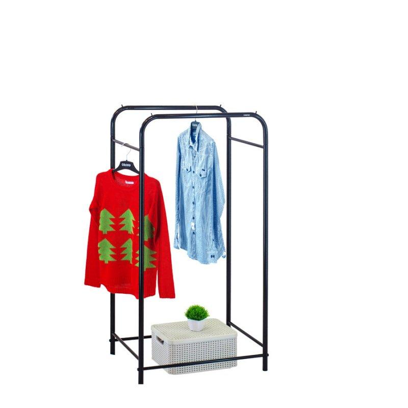 Стойка для одежды Fenster Лофт 11А Черный 135х70х48,5