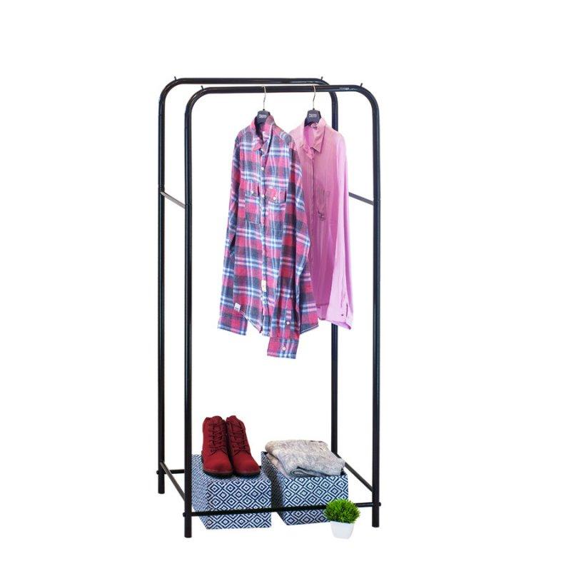 Стойка для одежды Fenster Лофт 11А Черный 160х70х48,5