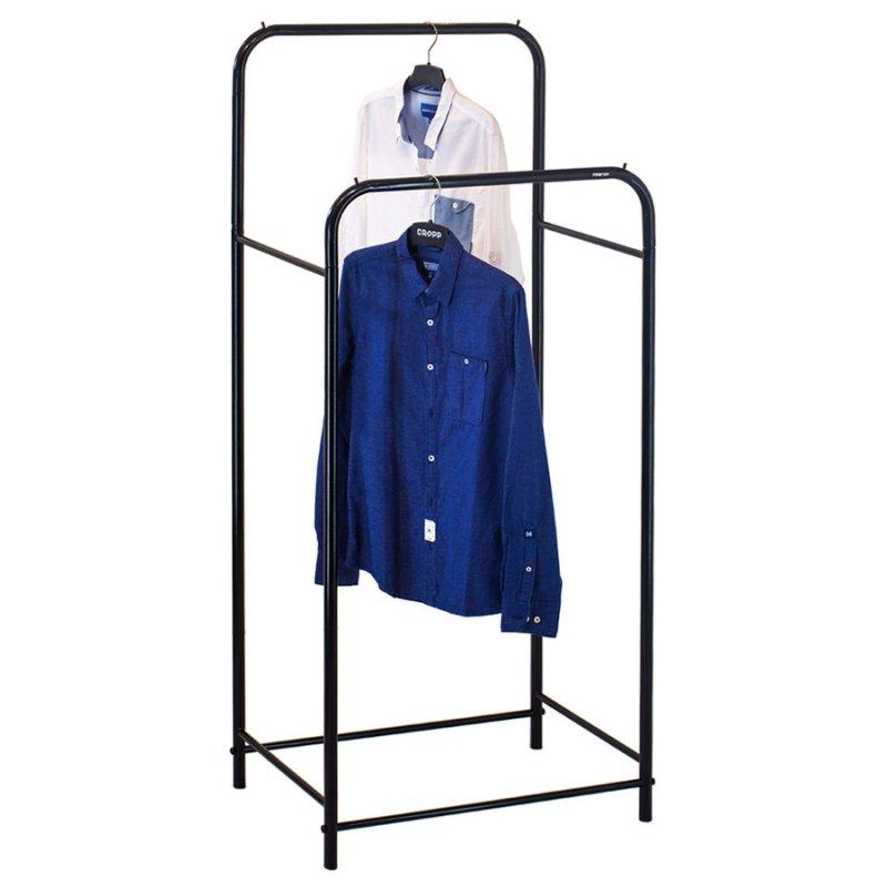 Рейл для одежды Fenster Лофт 12 Черный 160х70х48,5