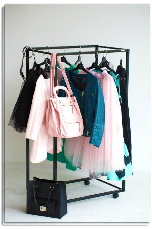 Рейл для одежды Fenster Квадро 3 Черный 125х100х47