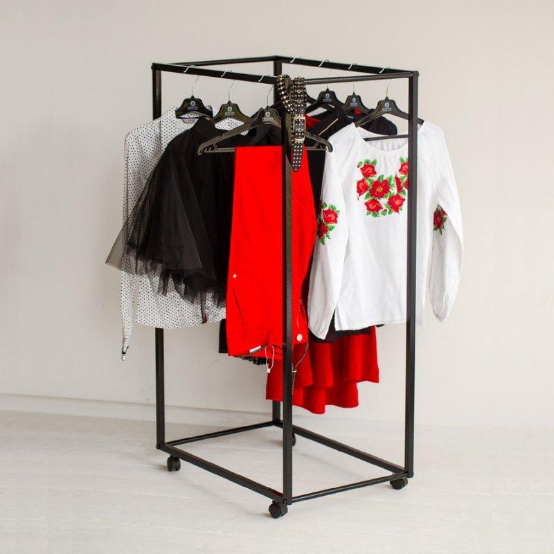 Рейл для одежды Fenster Квадро 3 Черный 150х70х47