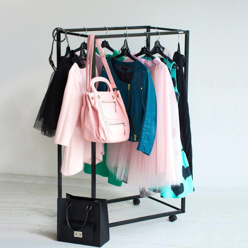 Рейл для одежды Fenster Квадро 3 Черный 150х100х47