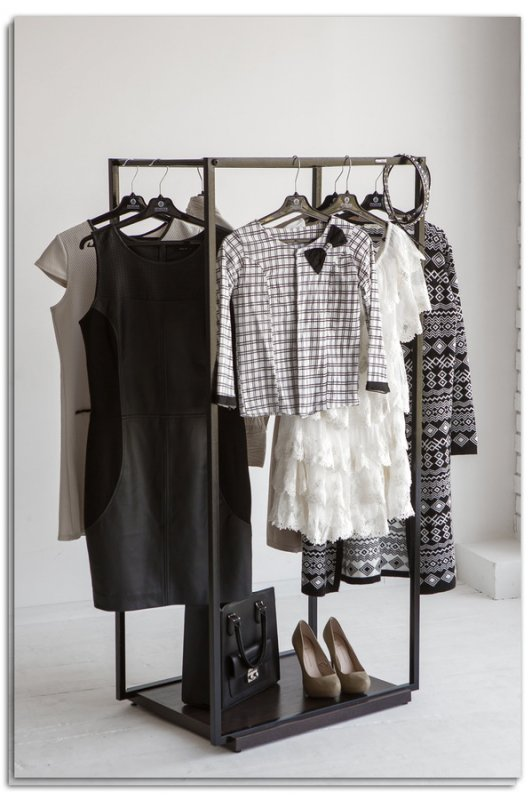 Рейл для одежды Fenster Квадро 4 Черный 122х70х49