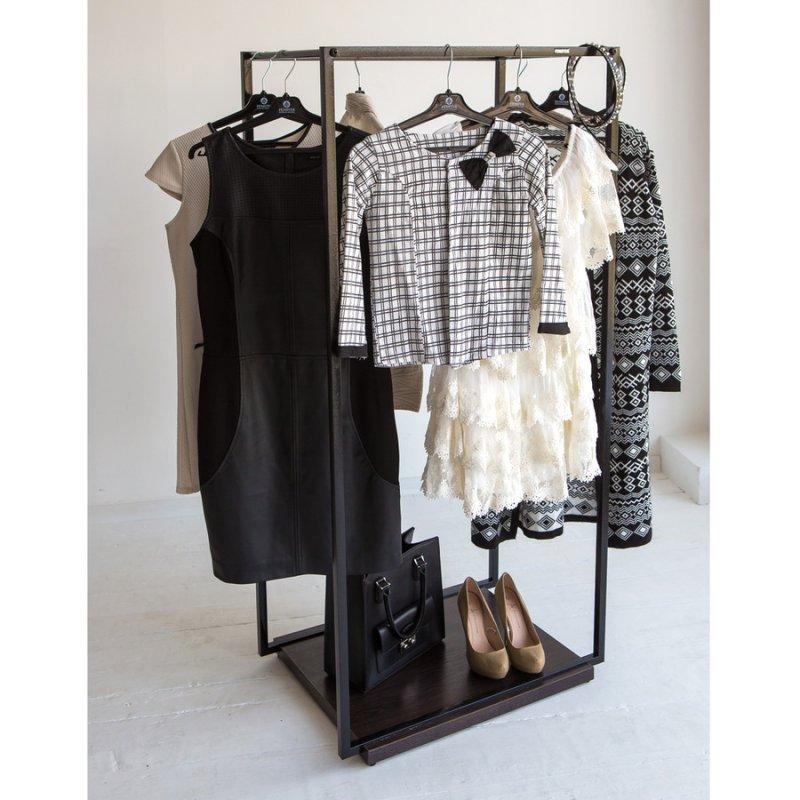 Рейл для одежды Fenster Квадро 4 Черный 122х100х49