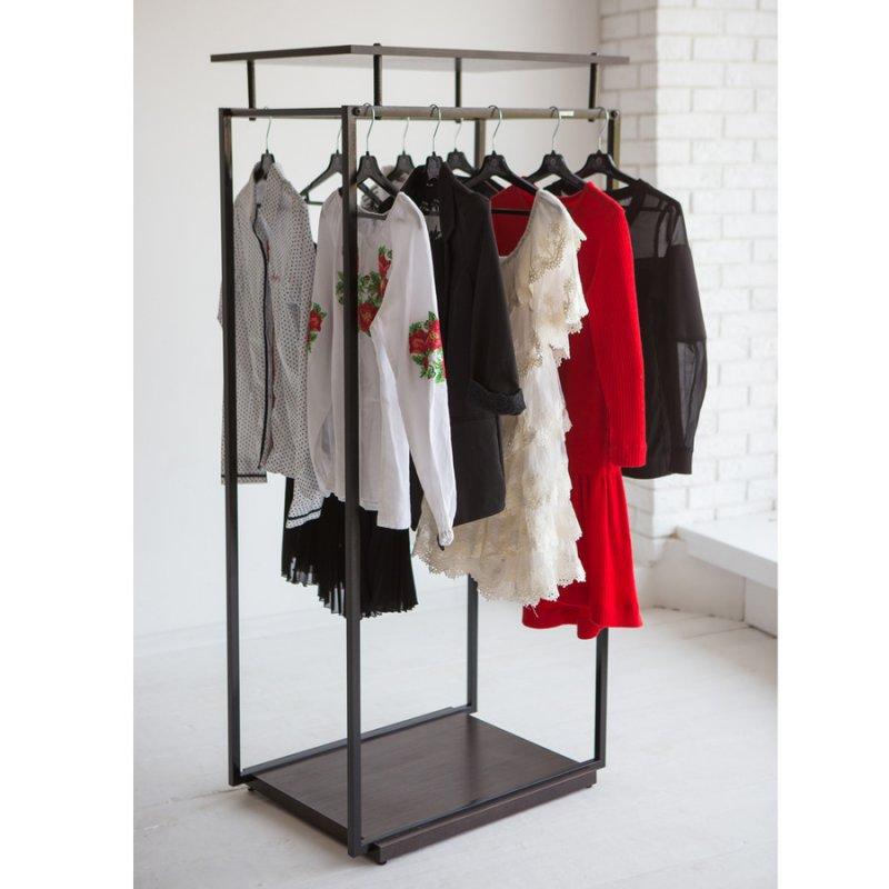 Стойка для одежды Fenster Квадро 5D Чёрный 134x70x49