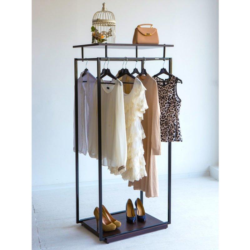 Купить Стойка для одежды Fenster Квадро 5C Чёрный 159x70x49