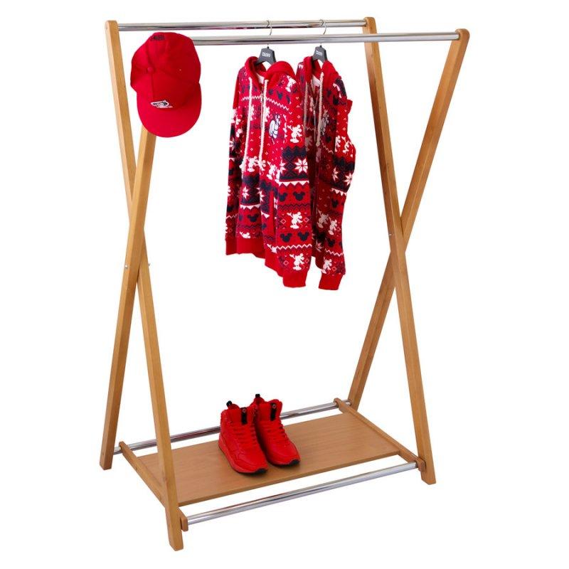 Стойка для одежды Fenster Модус 3П Бук 150x100x60