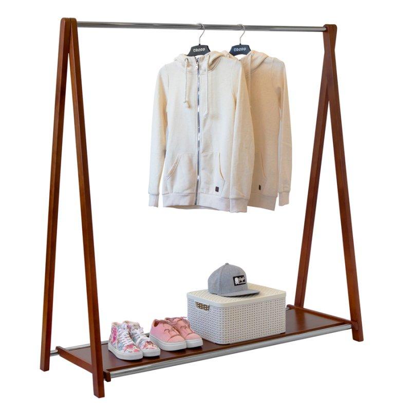 Напольная вешалка для одежды Fenster Модус 2П Коричневый 146x150x48,5