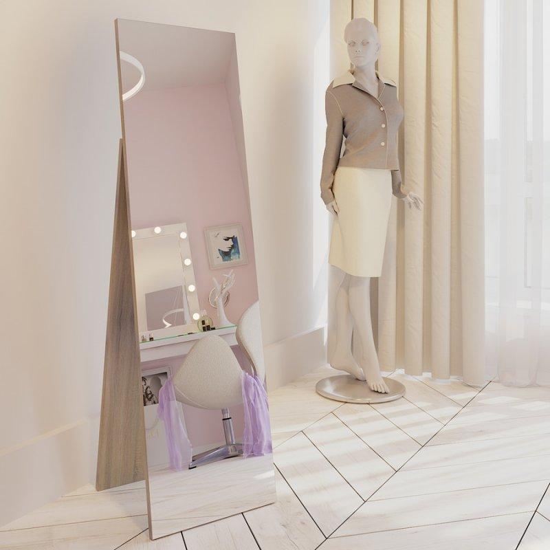 Напольное зеркало Fenster Жаклин дуб сонома 157,5x44,5x47