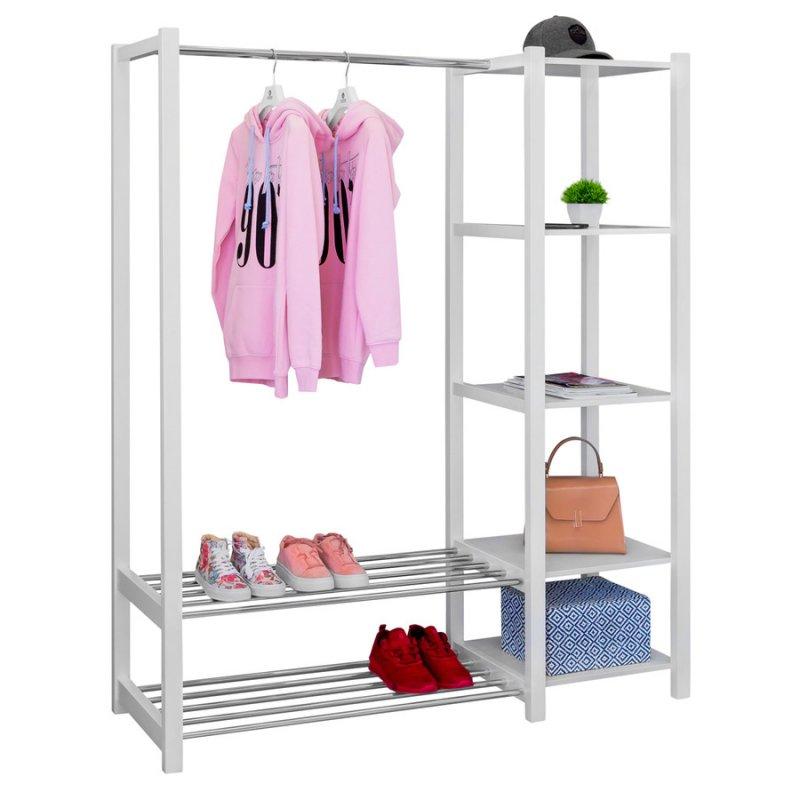 Стойка для одежды Fenster Люкс 2 Белая