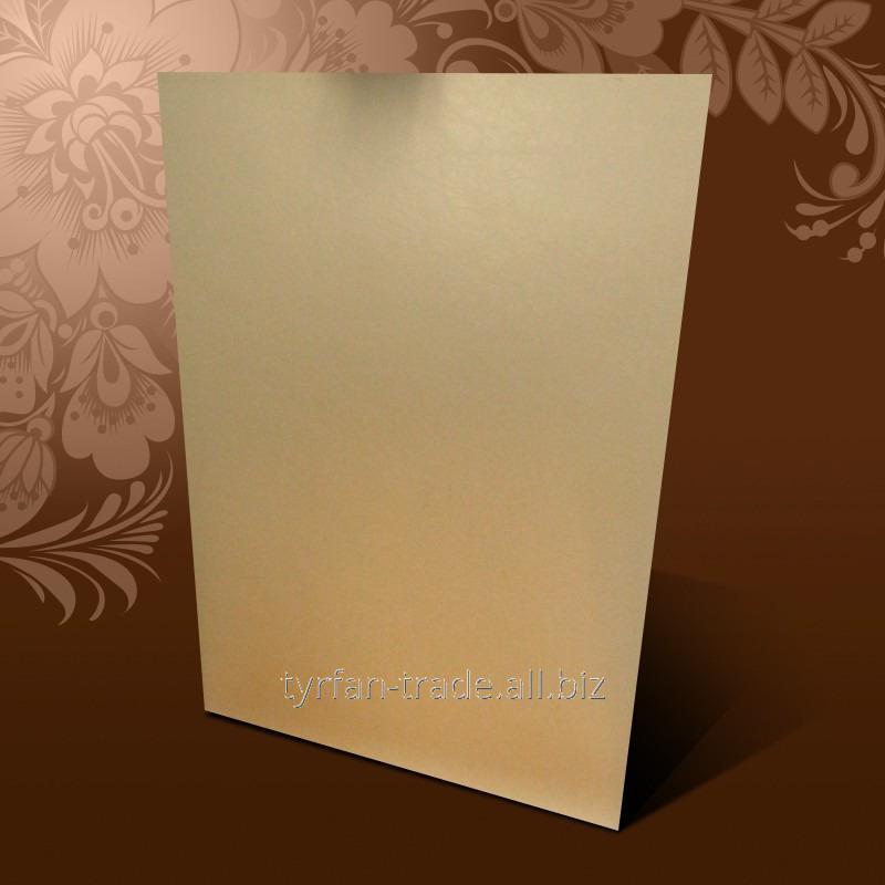 Купить Анодированный алюминий листовой под золото матовое