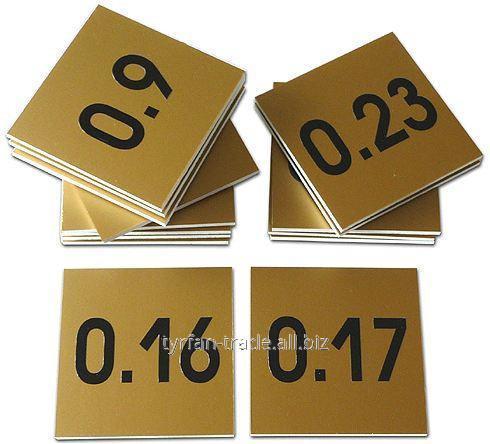 Номерки металлические в раздевалку под золото, серебро