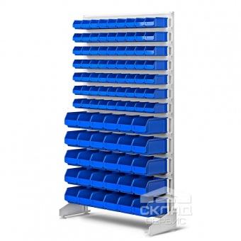 Стеллаж односторонний с лотками LS (93 шт) 1800(h)х1000х350 мм