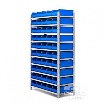 Стеллаж с лотками (405-50 шт) LS 2000(h)х1200х500 мм