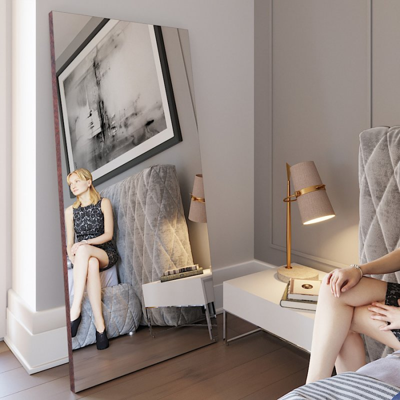 Напольное зеркало Fenster Версаль коричневое 179x79x3,2