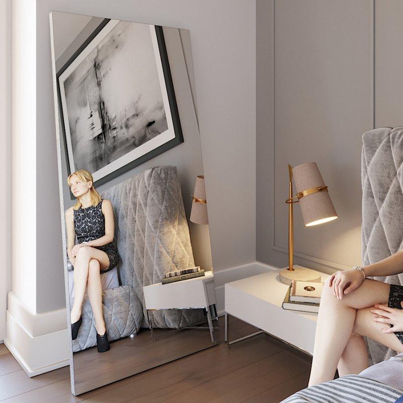 Напольное зеркало Fenster Версаль дуб сонома 179x79x3,2