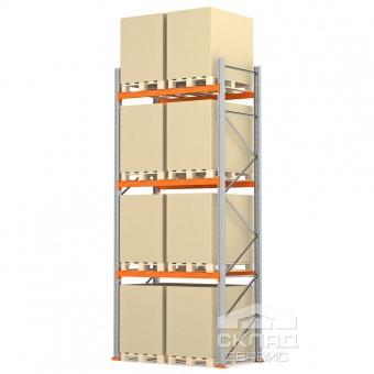 Стеллажи паллетные 4500(h)х1800х1100 мм (пол + 3 яр. х 2490 кг)