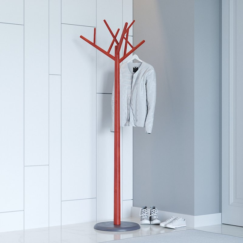Вешалка напольная Fenster Феникс красно-серый