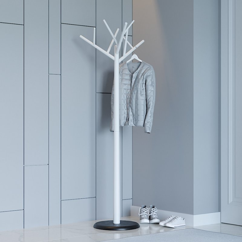 Вешалка офисная Fenster Феникс бело-чёрный