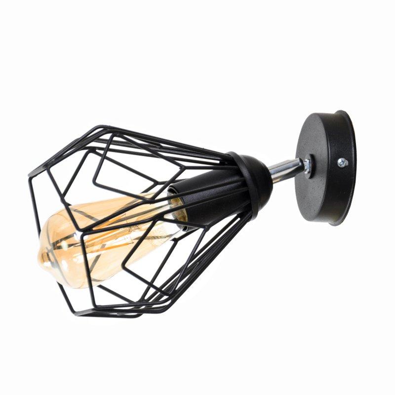 Купить Металлическое бра в стиле Лофт Bevel W-165 Black