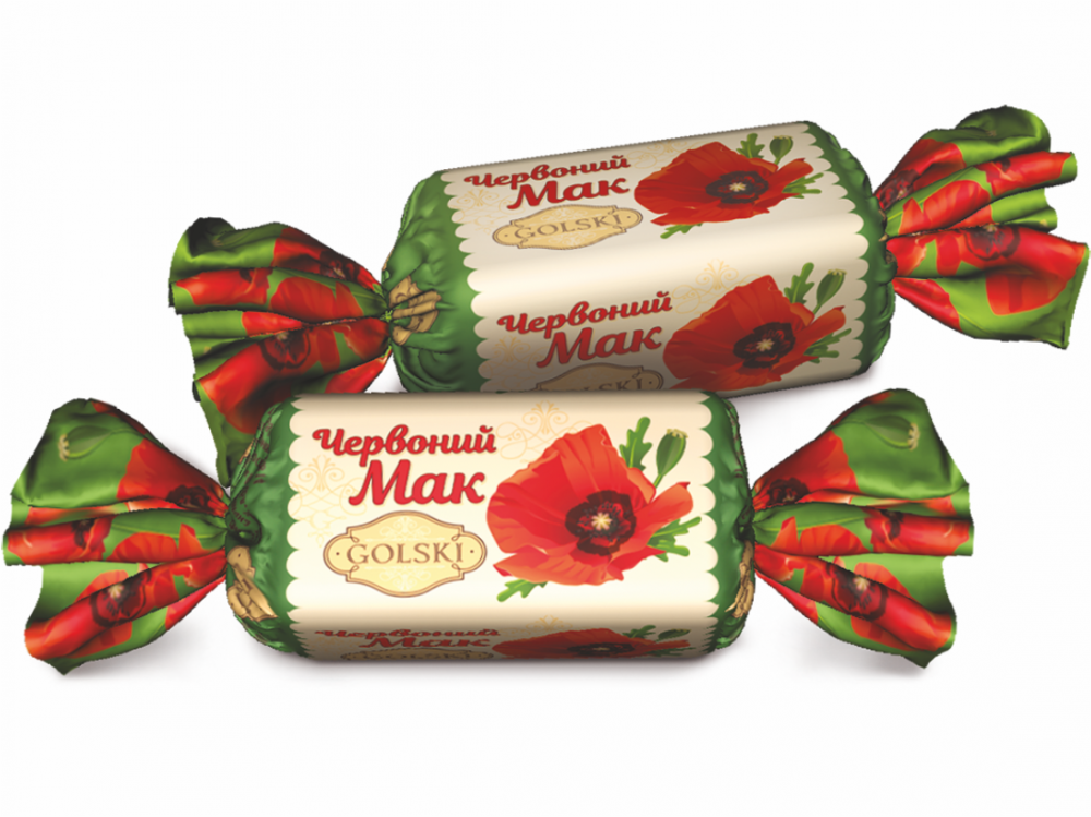 Хрустящие глазированные конфеты с ароматом лесных орехов и ванили КРАСНЫЙ МАК