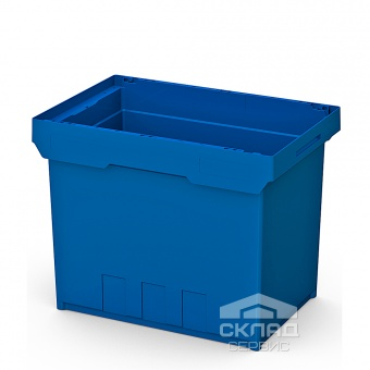 Купити Гніздо контейнера Instore (6442) 600h400h420 мм з посиленою нижньої синім