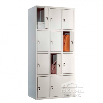Buy Sectional cabinet cloakrooms LS-34 (1830x850x500 mm)