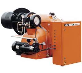 Дизельные горелки серия GI DSPG для светлых нефтепродуктов , промышленные двухступенчатые . Тепловая мощность от 1581 до 10500 kW. Способна работать с любым типом камеры сгорания.