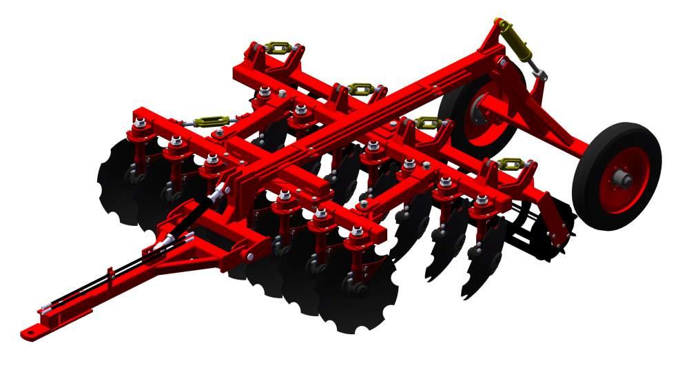 Агрегат почвообрабатывающий полунавесной АГН-2,5, Агрегат почвообрабатывающий с регулируемым междуследием предназначен для основной и предпосевной обработок почвы под зерновые и технологические культуры.