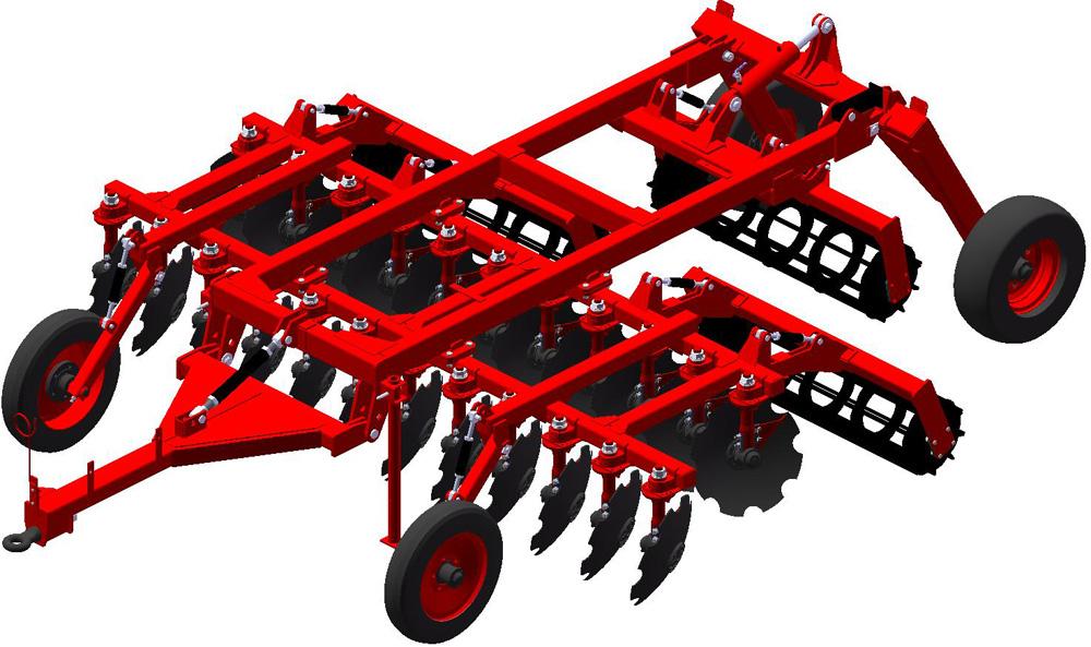 Купити Агрегат ґрунтообробний напівнавісний АГН-4-2, Призначений для основної й передпосівної обробки ґрунту під зернові й технічні культури.
