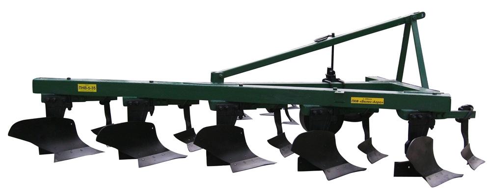 Плуг навесной ПНВ 5-35 с предплужником, Плуг навесной ПНВ 5-35 с предплужником, предназначен для пахоты почв под зерновые и технические культуры