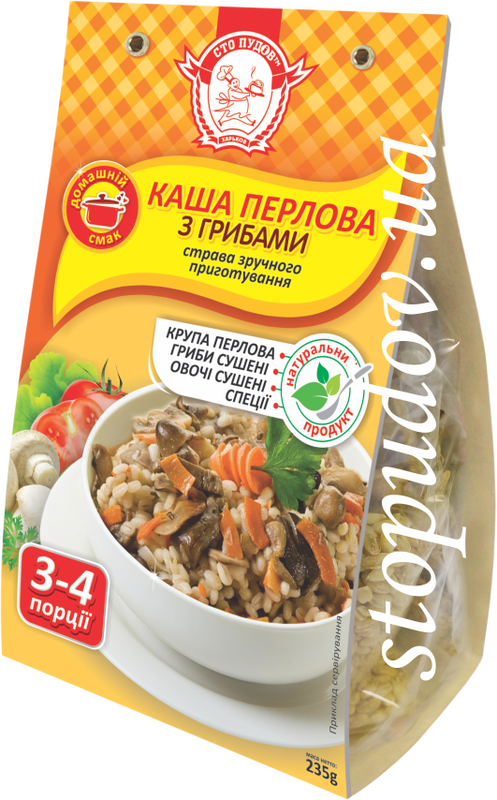 Buy Barley porridge with mushrooms, 0.235 kg