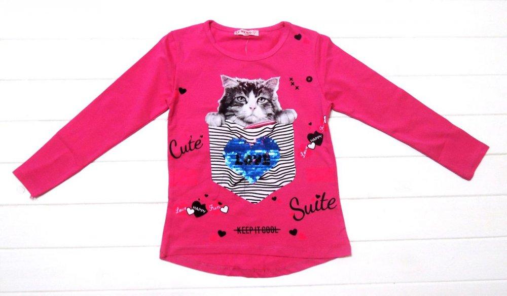 """Купить Туника для девочек с пайетками-перевертышами """"Кот в кармане"""" 122-146 см."""