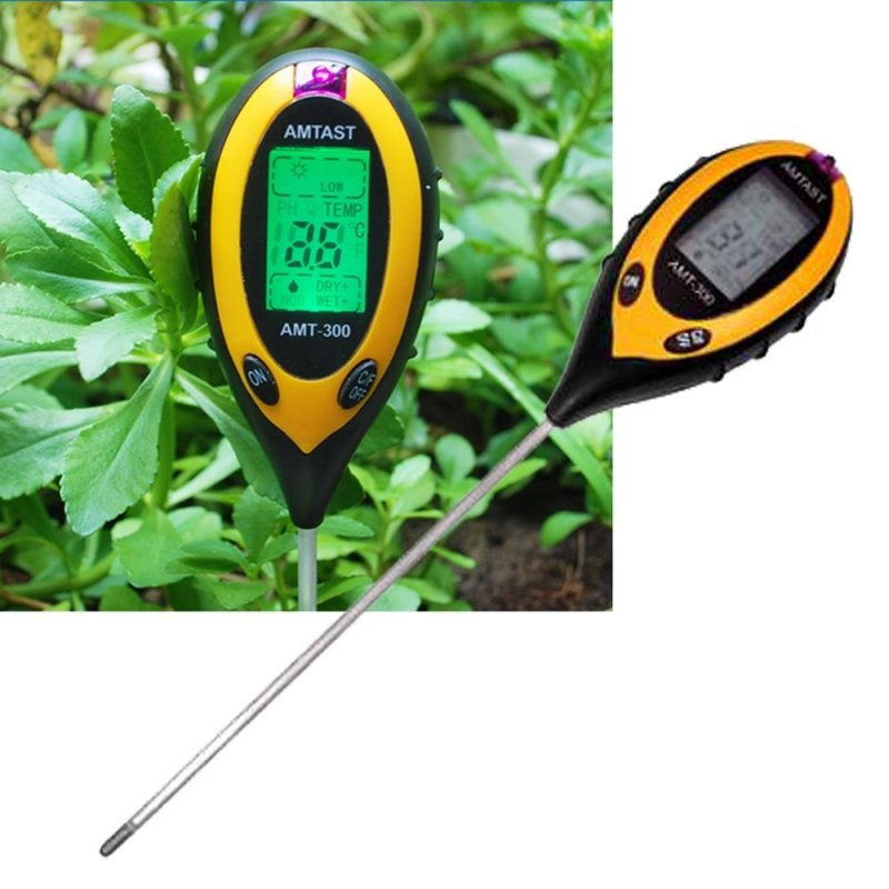 Купить Аналізатор показників ґрунту (щуп агронома) 4 в 1, вологомір, термометр. Анализатор показателей грунта, рH-метр почвы щуп агронома. Влагомер, термометр, люкс-метр. Польша