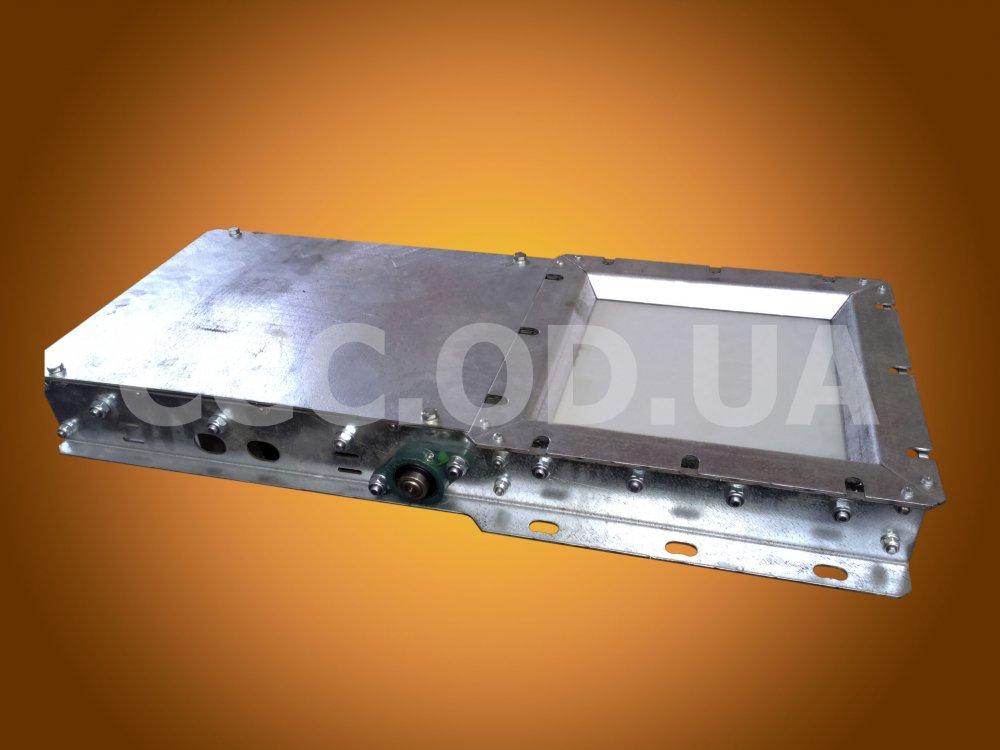ЗРР_Р-500, Задвижка запорно-роликовая реечная ручная, сечение 500х500