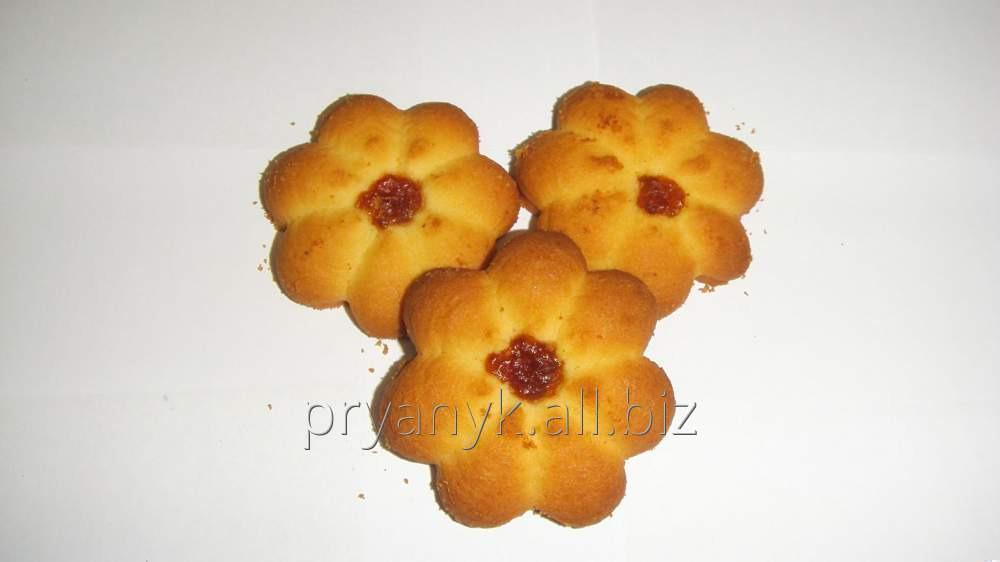 "Biscuit shortbread ""Sun"" with jam"