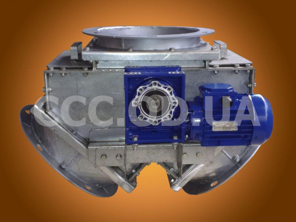 КДЭ-400, Клапан перекидной маятниковый симметричный\двусторонний электрический, сечение 400х400