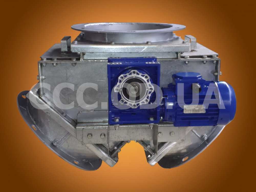 КДЭ-600, Клапан перекидной маятниковый симметричный\двусторонний электрический, сечение 600х600