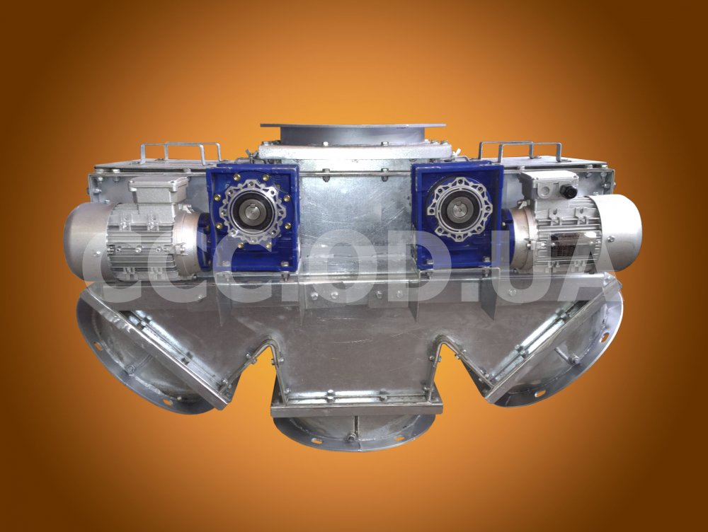КТЭ-200, Клапан перекидной маятниковый трехсторонний электрический, сечение 200х200