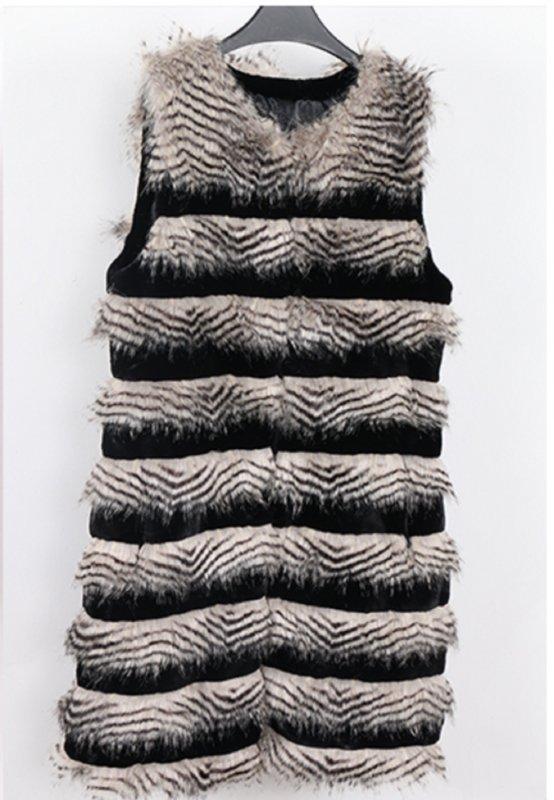 Элегантный, теплый, женский меховой жилет-(Нерадзурри).