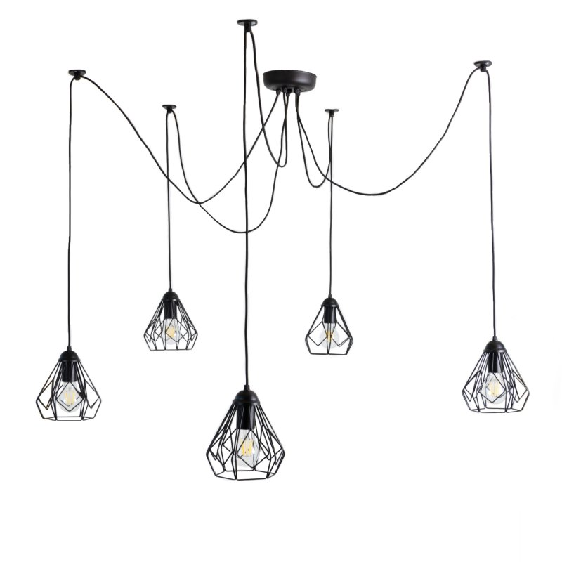 Buy The chandelier in the loft-style Bevel Spider-5