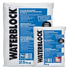 Гидроизоляционная обмазочная смесь WATERBLOCK, серый, 25 кг