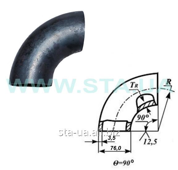 Отвод 76x3,5 мм стальной ГОСТ 17375-01 крутогнутый
