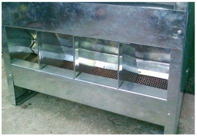 Комбикормушка бункерная с пылеулавливателем для кроликов
