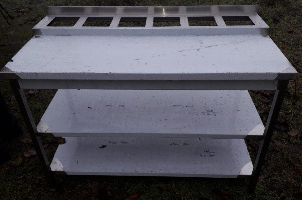 Стол дрессинг 1300х600х850 с 2мя полками из нержавеющей стали