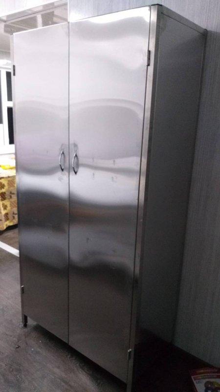 Шкаф для посуды   4 полки 1000х700х1800 из нержавеющей стали