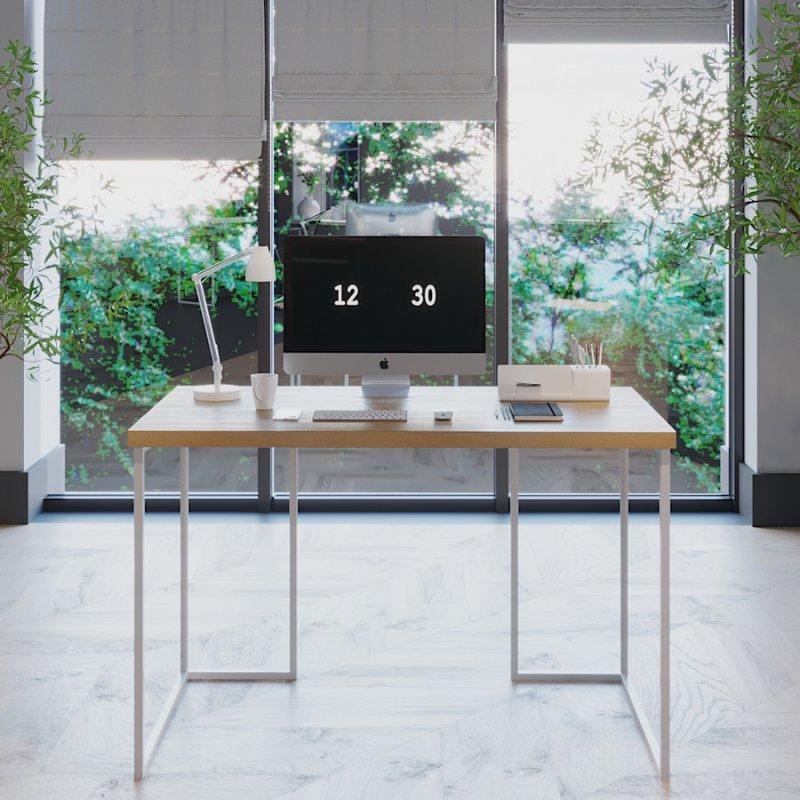 Компьютерный стол Fenster Вега 1 Белый 75,5x120x60 столешница Бук